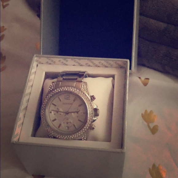 Express Accessories - Silver stainless steel watch